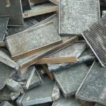 Radiator metal recycling yard
