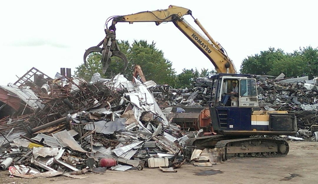 metal recycling excavator rock valley ia