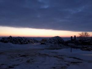 Winter Sunrise over Scrap Metal